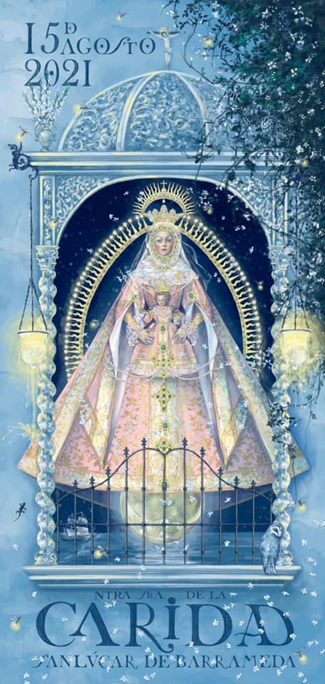 Cartel de la Festividad de Hermandad de Nuestra Señora de la Caridad Coronada 2021 de Sanlúcar de Barrameda