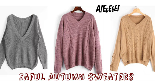 Zaful Autumn Sweaters !