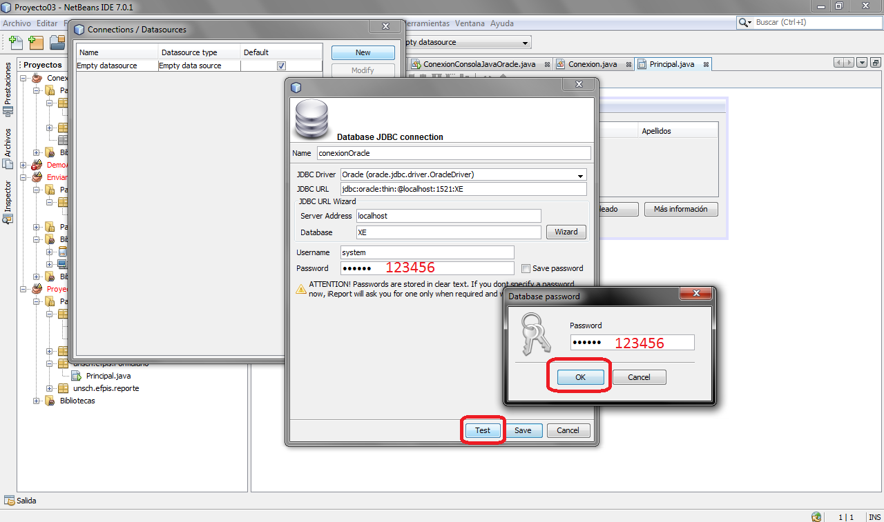 Creación de Reportes con Java, Netbeans y Oracle 11g XE