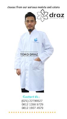 harga bikin seragam jas laboratorium pria tahun 2019
