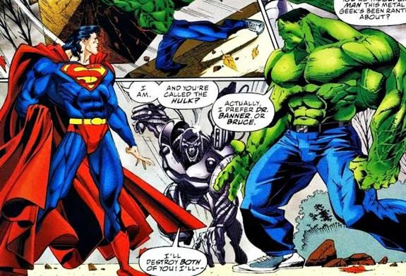 Superman vs Hulk en 'DC vs Marvel'