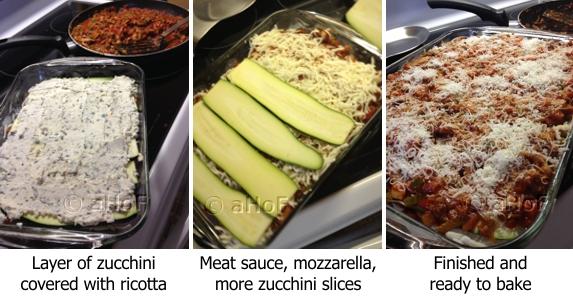 Making Zucchini Lasagna