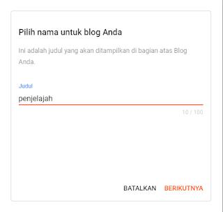 cara custom subdomain di blogger