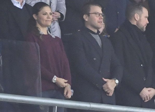 Crown Princess Victoria at 2018 FIFA World Cup European Play-Off match Sweden and Italy at Friends Arena