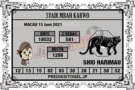 Syair Mbah Karwo Togel Macau Selasa 15 Juni 2021