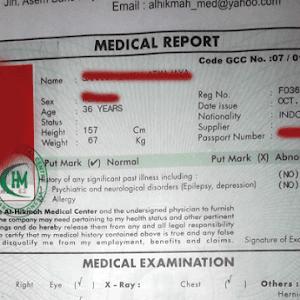 Daftar Alamat Medical Cek Up Gamca TKI - Visaku