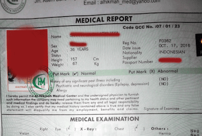 medical gamca yang digunakan untuk visa arab