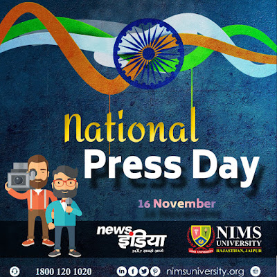 National Press Day of India - News India - Nims University