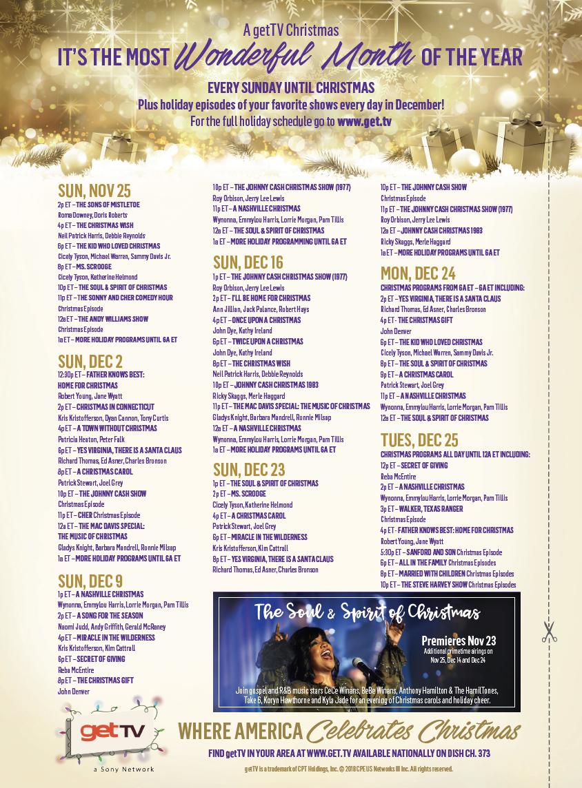 Christmas TV History: Christmas TV Schedule: 2018