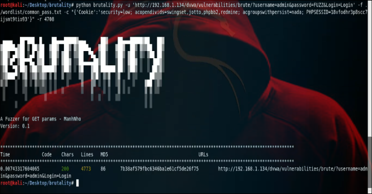 Brutality : A Fuzzer For Any GET Entries