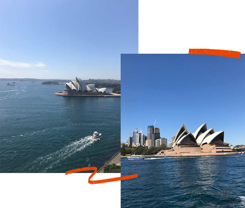 Scenic views of Sydney Opera House, Australia