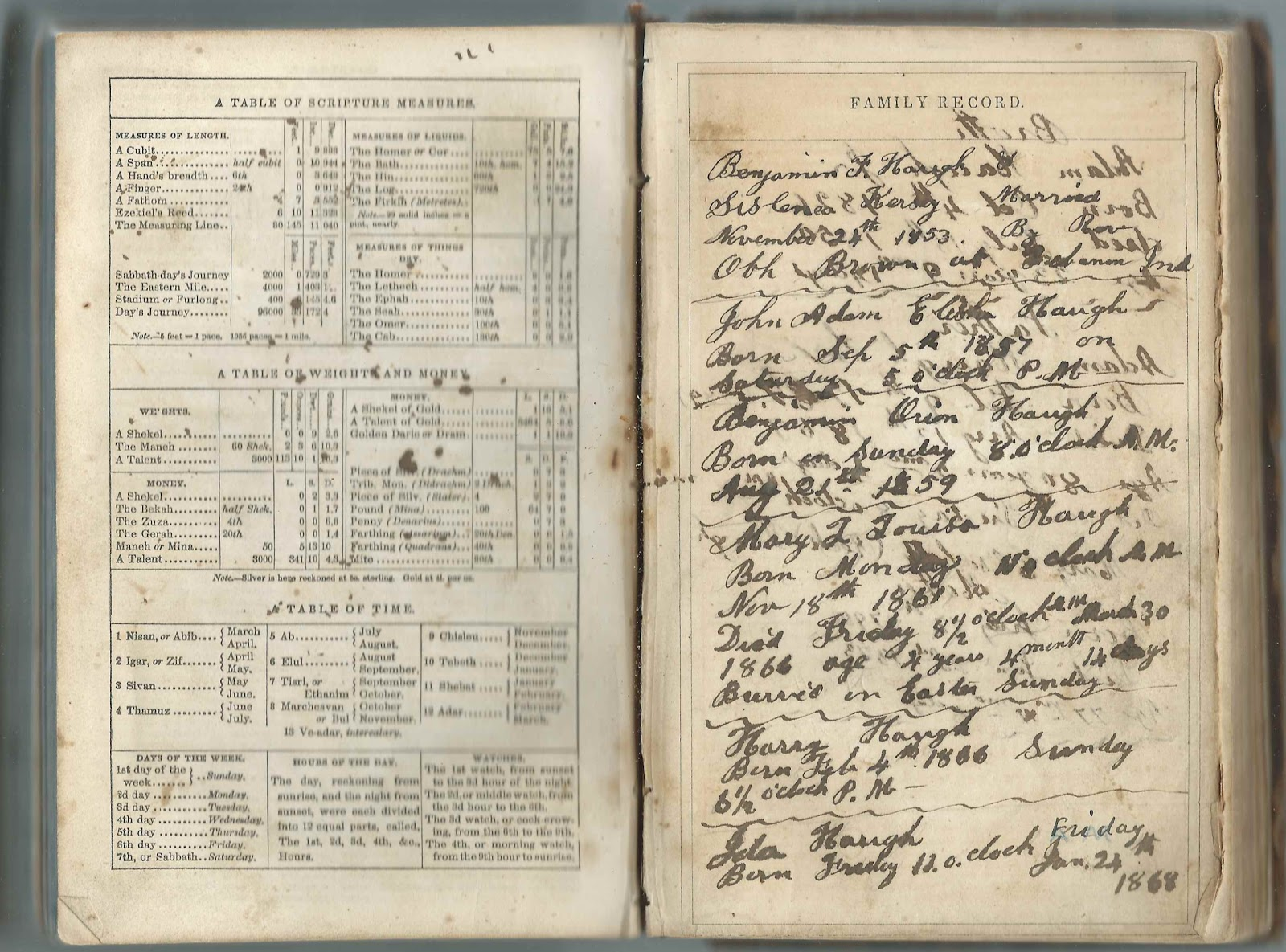 Heirlooms reunited bible of benjamin franklin haugh 1829 1912 other pages provide birth death and age information on aiddatafo Gallery