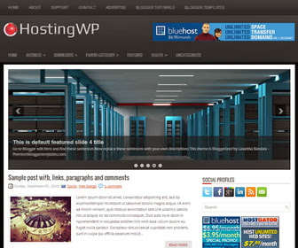 HostingWP Blogger Template