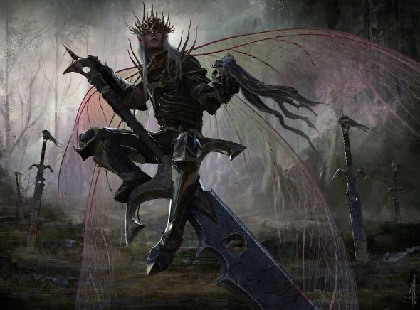 Nino Is artstation deviantart arte ilustrações fantasia sombria terror