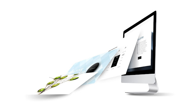 Perspective iMac Screen Mockup PowerPoint Template