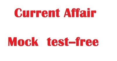 Current affair mock test