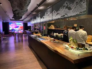 Live station, Akira Back restaurant, JW Marriott Singapore Beach Road, 2021