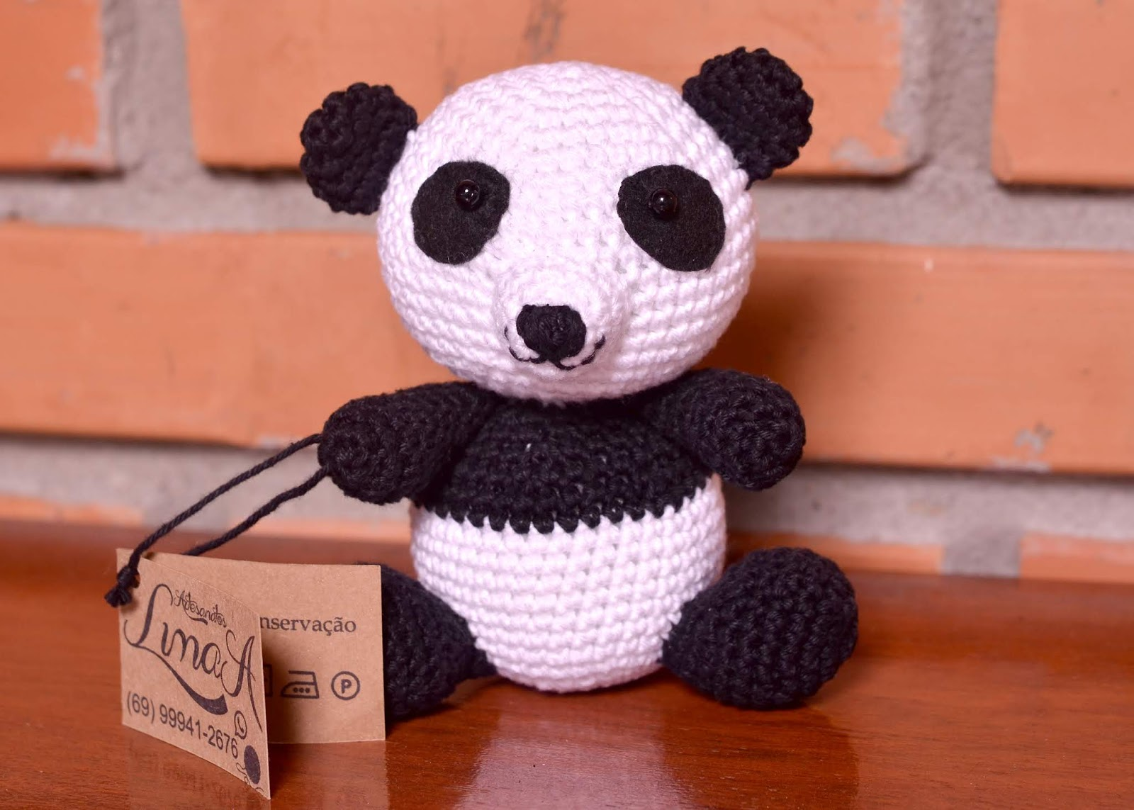 Urso Panda Receita de Amigurumi de Crochê por Little Bear Crochets | 1143x1600