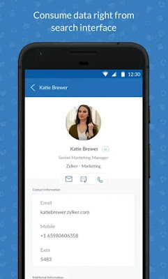 Screenshot One Search Zoho Mail - Apcoid