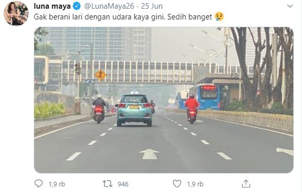Komentari Kualitas Udara Jakarta, Luna Maya Diminta Teriak ke Jokowi