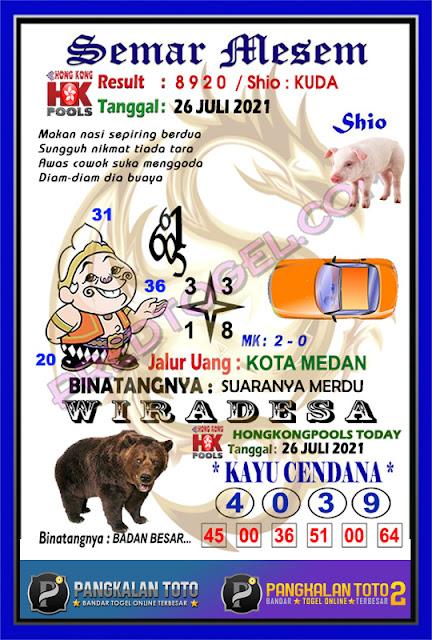 Syair semar mesem HK 26 Juli 2021