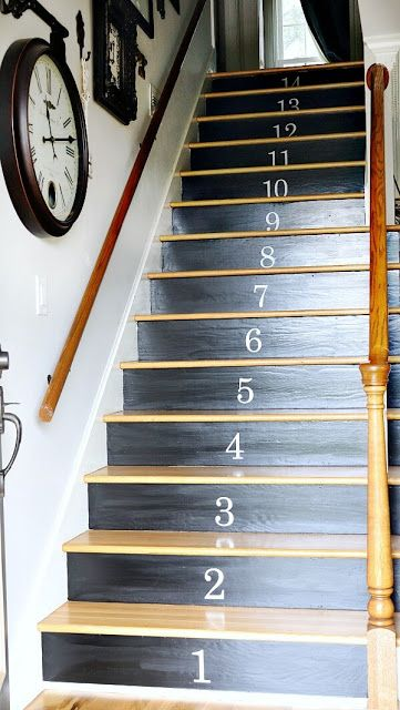 Painted staircase makeover