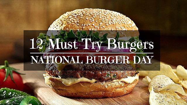 12 Must Try Burger Recipes for National Burger Day via holiday knight recipes @ geniusknight.blogspot.com Burger recipes