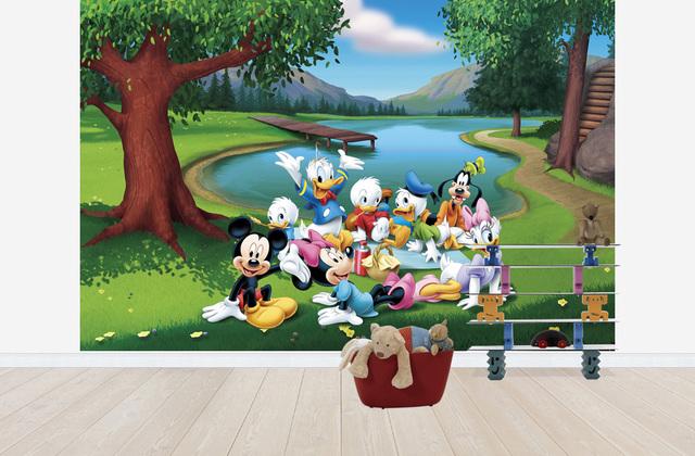 Lastenhuoneen Tapetti Lasten Tapetti Disneyn Mikki hiiri ja ystävät Disney 3D