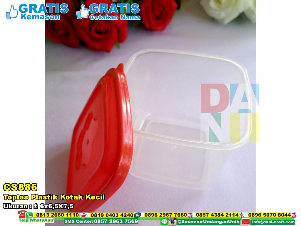 Toples Plastik Kotak Kecil  Souvenir Pernikahan