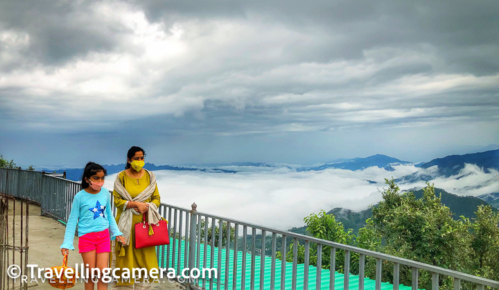 Above is another photograph from first floor of the Naina Devi temple in Mandi, near Rewalsar. Just look at the dense clouds in the background.