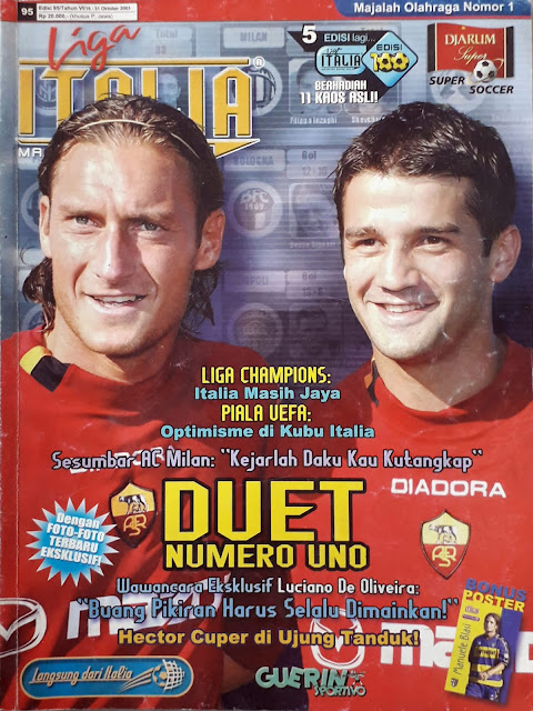 FRANCESCO TOTTI AND CHRISTIAN CHIVU OF AS ROMA
