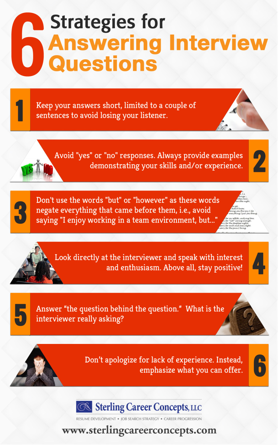 6 Strategies for Answering Interview Questions #infographic #Career #Interview #infographics #Interview Questions #Interview Mistakes