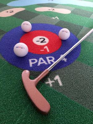 Putt18 golf putting mat game