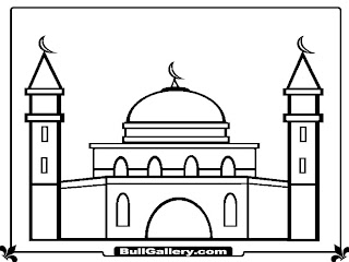 Mosque Printable Kids Coloring Pages