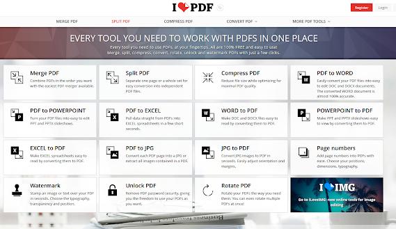 I love pdf - אתר עשיר בכלי עבודה לטיפול בקבצי pdf