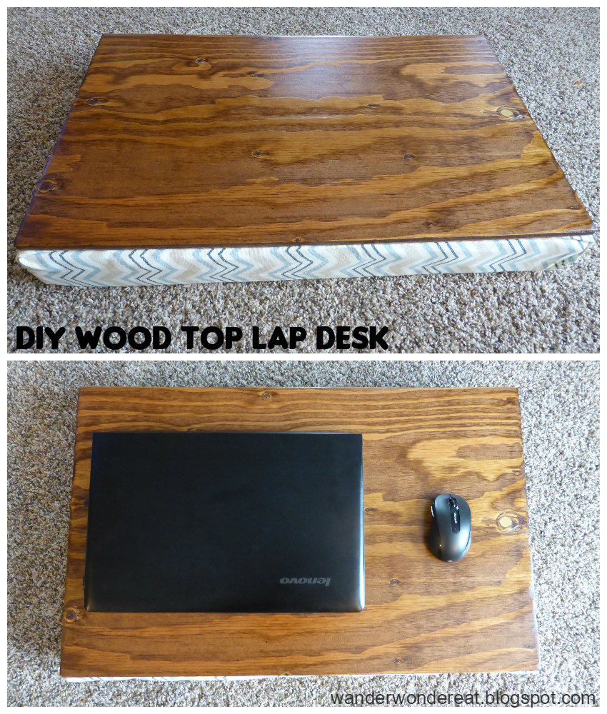 Learn how to make this super useful lap desk with this step-by-step tutorial via wanderwondereat.blogspot.com