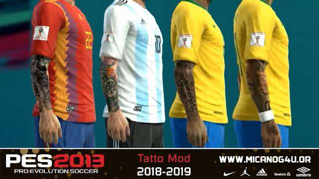 New Tattoo Mod For PES 2013