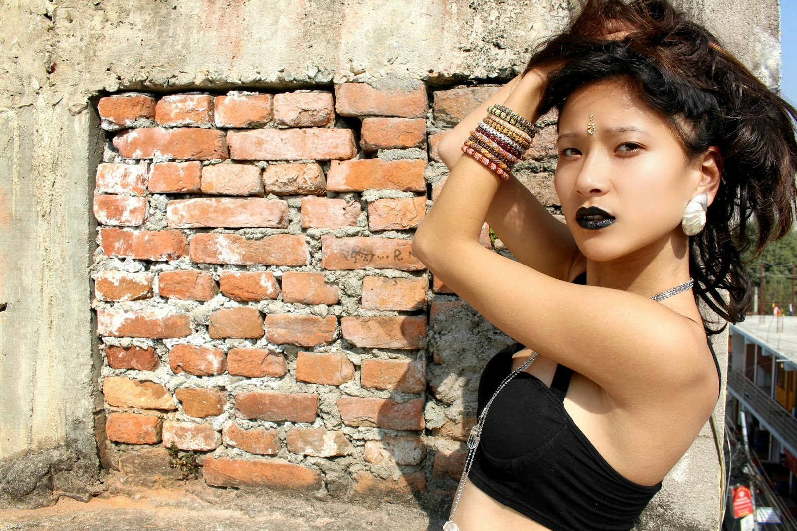 Lotus Sky jewelry, Nepal, black lips, dark fashion, ethnic