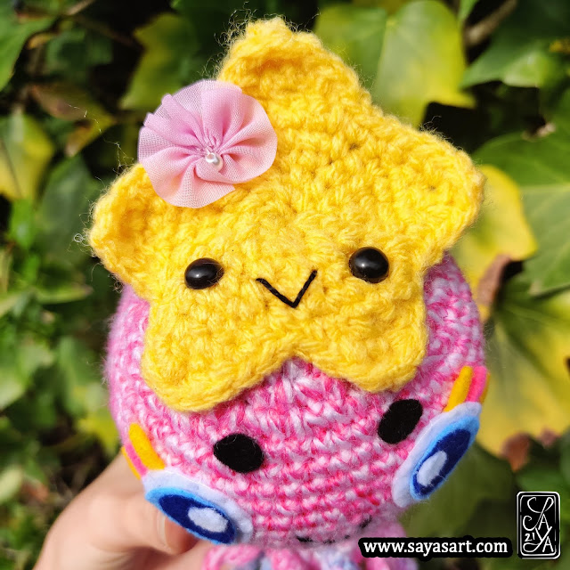 Amigurumi peluche - Hana la méduse - Unique piece - crochet plush jellyfish pastel rainbow starfish étoile de mer sea cute mignon kawaii Saya's Art