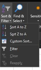 Sort & Filter