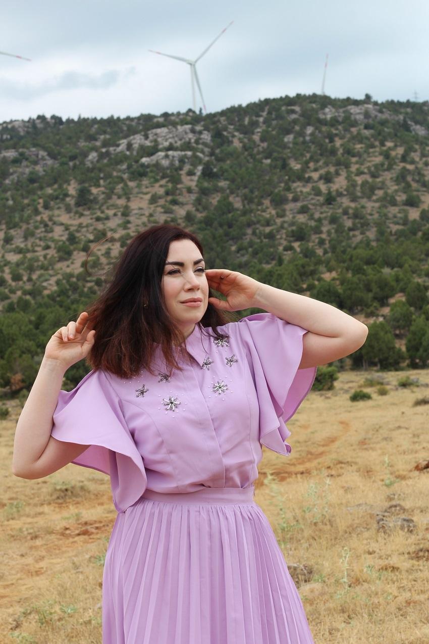 alışveriş-shein-shein dresses-fashion blogger-moda-lila takım-lilac dres-fashion