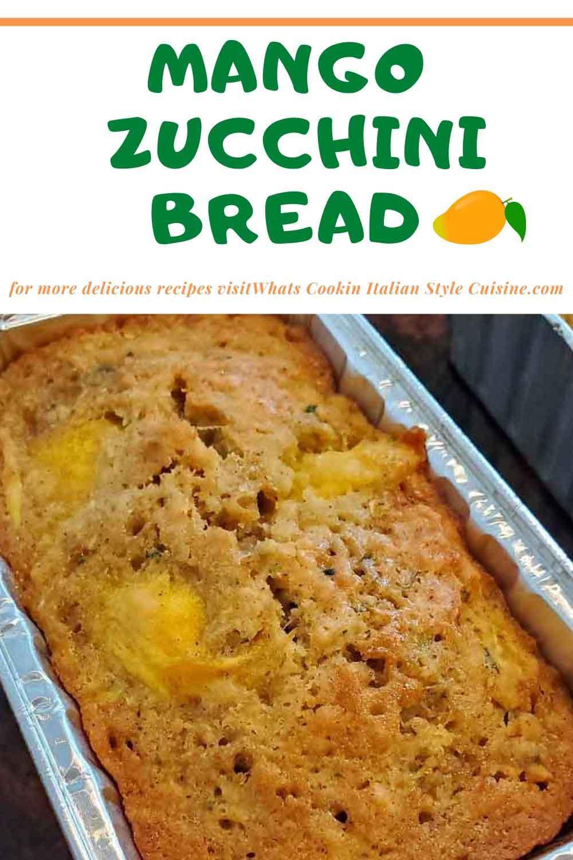 this is a mango zucchini bread
