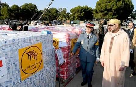 مساعدات المغرب لإنقاذ لبنان .. الملك محمد السادس نصره الله يتصدر واجهة العمل الإنساني