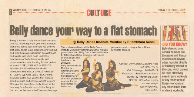 belly dance institute Mumbai by Ritambhara Sahni testimonial