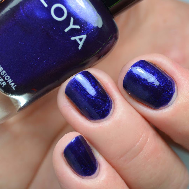 deep blue metallic nail polish swatch