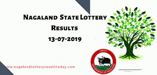Nagaland State Lottery 13-07-2019