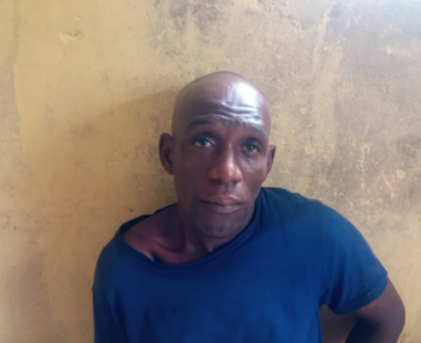 35yr old man arrested for shooting his Co-tenant at her ribs in Ogun state (Photos)