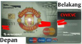 kode cvv cvc kartu kredit danamon