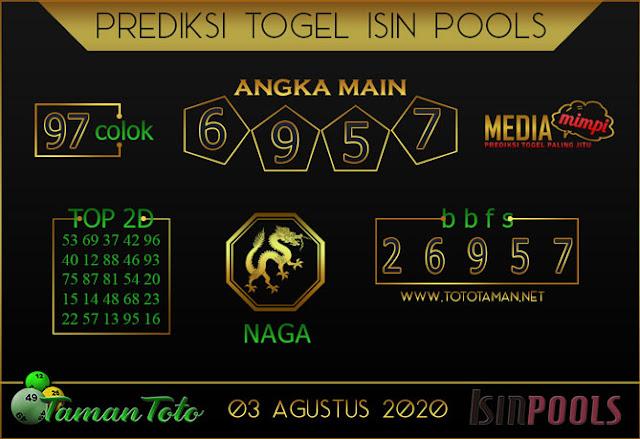Prediksi Togel ISIN TAMAN TOTO 03 AGUSTUS 2020