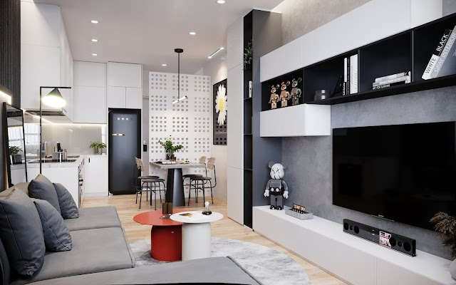 Nội thất căn hộ studio kèm file max- corona